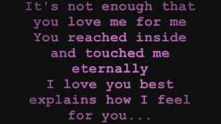 Because of You - Keith Martin [w/ Lyrics]