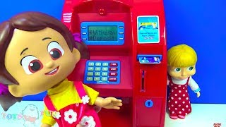 Niloya oyuncak ATM ile para çekiyor ✔︎ ATM makinesi oyuncak tanıtımı Polis ve Peluş Pembe Panter