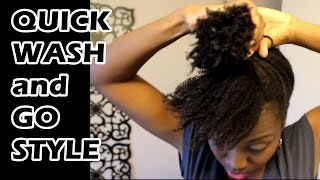 Quick Style for Failed Wash and Go on Natural Hair