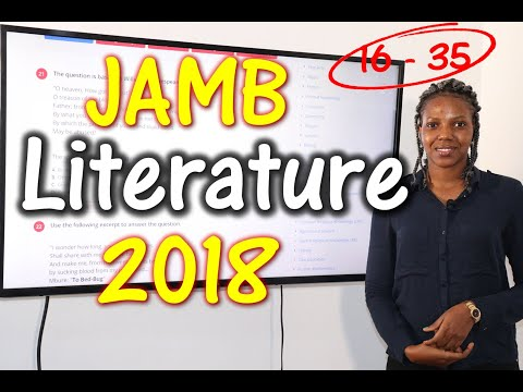 JAMB CBT Literature in English 2018 Past Questions 16 - 35