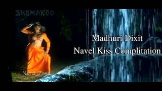 Madhuri Dixit Navel Kiss Complitation width=