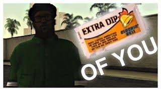 Oh oh oh reacting to ed Smoke ran DIP OF YOU (Shape of you GTA:SA parody)