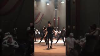 "Zac Efron On Set Of The Greatest Showman ""Greatest Show Rehearsals"""