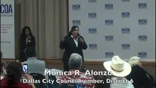Monica Alonzo at NHCOA Dallas Open Forum