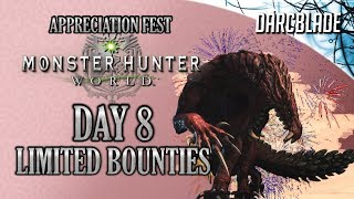 Day 8 : Appreciation Fest Limited Bounties : Monster Hunter World