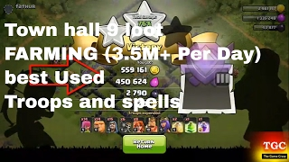 Clash of Clans IMMENSE LOOT - Best Town Hall 9 Attack Strategy FOR FARMING (3.5M+ Per Day) troops