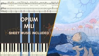 Opium   Mili piano cover tutorial sheet music