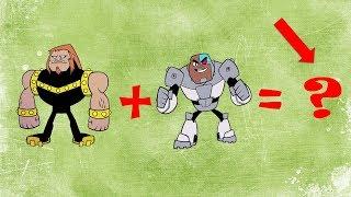 Teen Titans Go Transforms SpongeBob Craziness Cyborg Face Swap   iToon Fusion