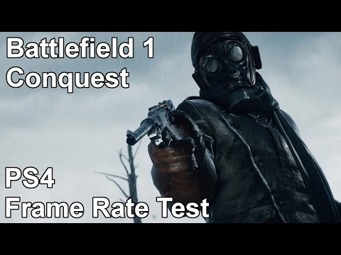 WTFF::: Battlefield 1 Conquest PS4 Frame Rate Test