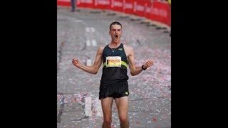 Trevor Hofbauer's emphatic Canadian marathon-winning celebration