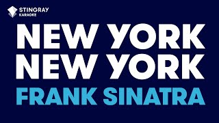 New York, New York in the style of Frank Sinatra karaoke video with lyrics