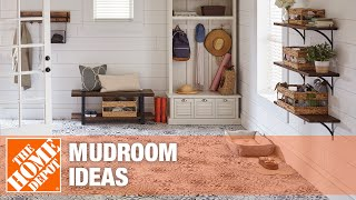 A video showing mudroom ideas for storage and organization