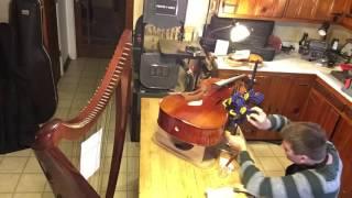 Cello repair in 23 seconds (time lapse)