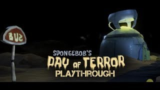 Spongebob's Day of Terror - Playthrough (short Spongebob horror fan game)