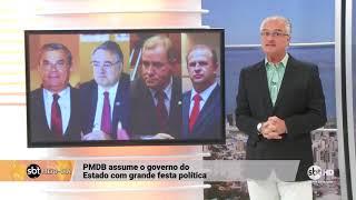 PMDB assume governo de Santa Catarina com grande festa política