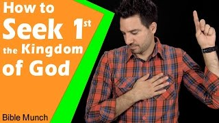 Seek First the Kingdom of God | How to Put God First | Matthew 6 33 & Haggai 1 | Bible Devotional