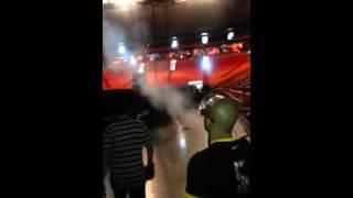 Huey Dunbar llegando prueba de sonido American Airlines Arena - Miami, Usa 2014