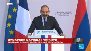 """Aznavour national tribute: """"Singer's death brought great sorrow,"""" says Armenian PM"""