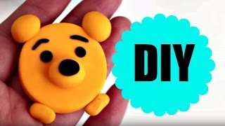 PASSO A PASSO LEMBRANCINHA - POOH - BISCUIT - POLYMER CLAY  - TUTORIAL - AULA
