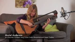 """""""Why worry"""" by Muriel Anderson on a Brunner Compact Harp Guitar"""