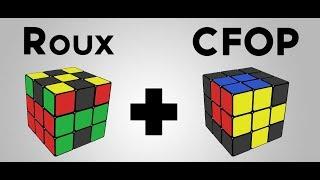 CFOP VS Roux Rubiks cube 3x3