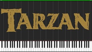 You'll Be in My Heart - Tarzan [Piano Tutorial] (Synthesia) // Wouter van Wijhe