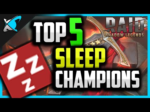 Top 5 SLEEP Champions in RAID: Shadow Legends !!