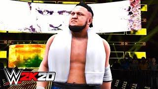 WWE 2K20 - SAMOA JOE FULL ENTRANCE!! (NEW ANNOUNCER!)