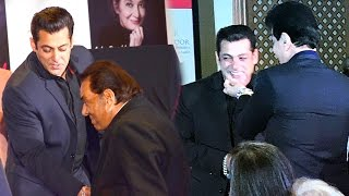 Salman Khan Shows Respect To Senior Actors Dharmendra & Jeetendra - Watch What Happens Next