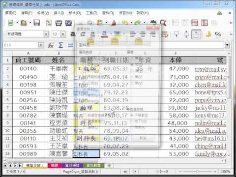LibreOffice Calc 教學_選擇性貼評註