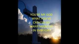 YOU'RE MY GOD jaci velasques lyric video