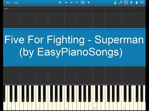 Superman Five For Fighting Easy Piano Cover Synthesia Download