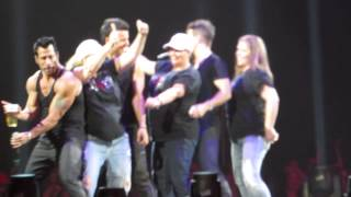 Donnie Rap's to Good Vibration While NKOTB Dance - Cleveland Rocks 2015