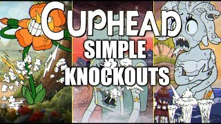 Cuphead - All Simple Difficulty Boss Intros & Knockout/Death Animations