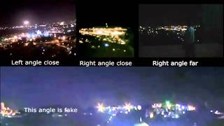 All 4 Jerusalem UFO video sightings with frame by frame comparison