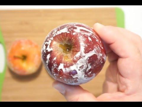 كيف تعرف ان التفاح مغلف بالشمع ?