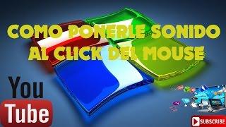 Como poner sonido al click del mouse