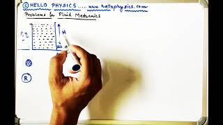 Problem  22 Statement Viscous fluid flowing out of container through narrow tube