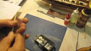 Video guida per costruire un modello di veliero; alberatura