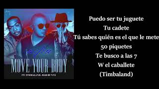 Move your body (letra) - Wisin ft. Bad Bunny, Timbaland