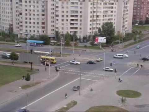 Kiev. Poznyaki. Street Dragomanov.