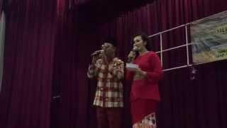 DJ Glamz & Emcee Ferdyna pengacara majlis Iftar di Kg Ubi CC