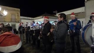B.M.de Música de Santa Marta.Villancicos en Nogales.En la Plaza.Blanca Navidad.