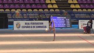 Maria Blaya campeonato España Ritmica Valladolid 2013 pelota