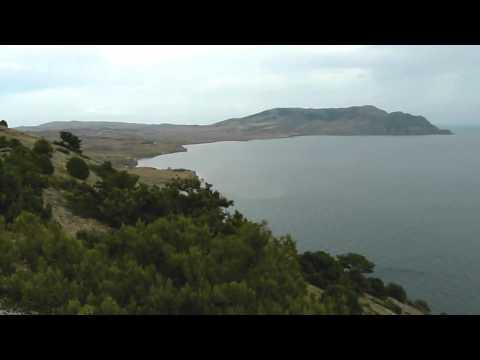 мыс Меганом, вид с мыса Алчак (Судак, Чёрное Море)