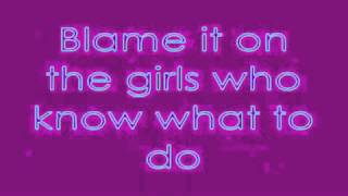 Blame It On The Girls karaoke instrumental by Mika with on screen lyrics