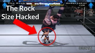 The Rock Size Hacked   WWE SmackDown! Here Comes The Pain (2003)
