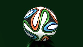 The Great new method to model Brazuca in Blender (time lapse)  - Part 2 -