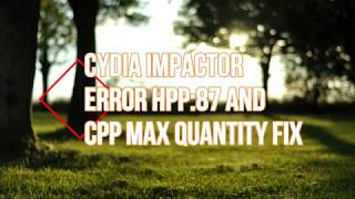 Cydia Impactor  Progress Hpp 87 And Provision 138 Max Quantity Errors Fix+Working Proof