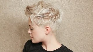 Messy Pixie Cut Hairstyle Tutorial